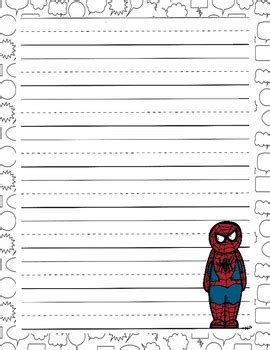 superhero writing paper  fabfilefolders teachers pay teachers