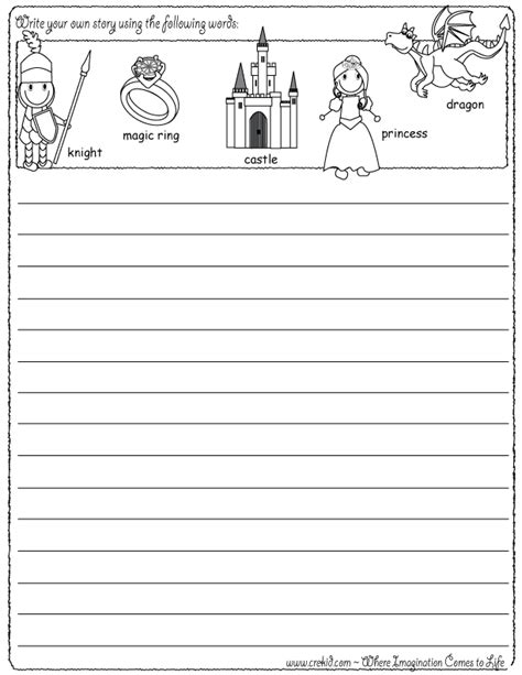 writing fun knights castles write your own story
