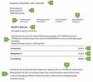 Rechnung Pflichtangaben : 3 mahnung f r freiberufler vorlage muster ~ Themetempest.com Abrechnung