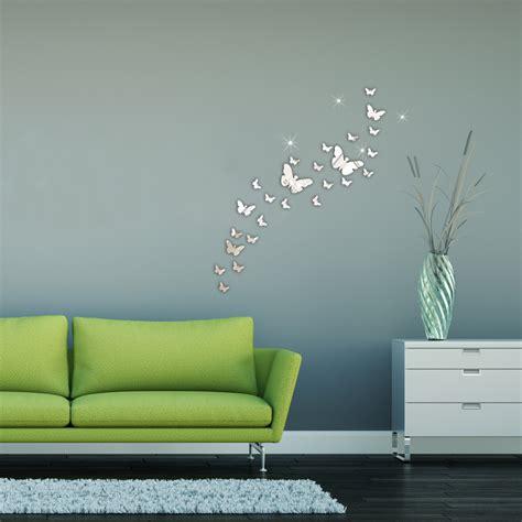 30 pi 200 ces papillon combinaison 3d miroir autocollant mural d 233 coration de maison ebay