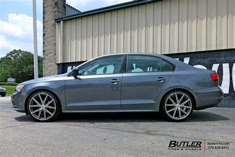Vw Jetta With 19in Tsw Rouge Wheels Exclusively From