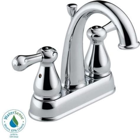 Delta Leland Kitchen Faucet Home Depot by Delta Leland 4 In 2 Handle High Arc Bathroom Faucet In