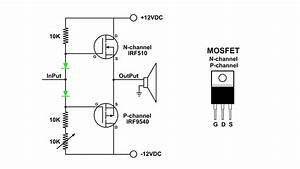 Mosfet Push Pull Amplifier Visual Demo