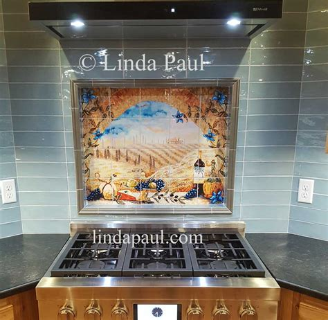 ceramic tile murals for kitchen backsplash italian tile murals tuscany backsplash tiles 9393