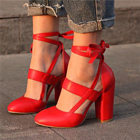 women pumps comfortable thick heels women shoes brand high