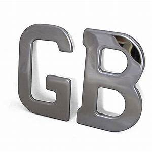 vintage car chrome gb letters by memento exclusives With chrome letters