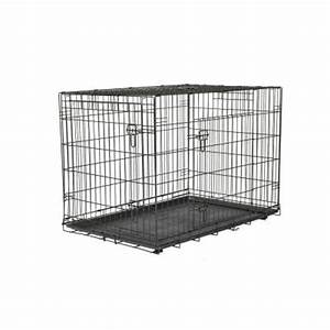 American kennel club 42 in x 30 in x 28 in large wire for Dog kennel cages home depot