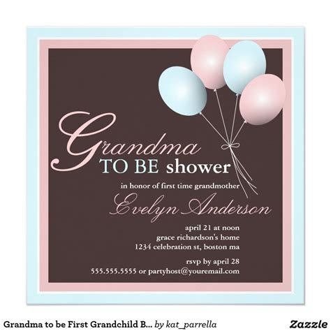 grandma    grandchild baby shower invitation
