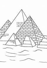 Pyramid Coloring History Learn Great sketch template