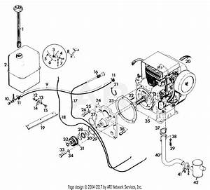 Gravely 45538 12hp  Without Hydraulic Lift Parts Diagram