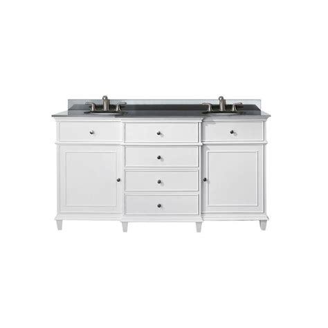 avanity 60 inch w sink vanity in white