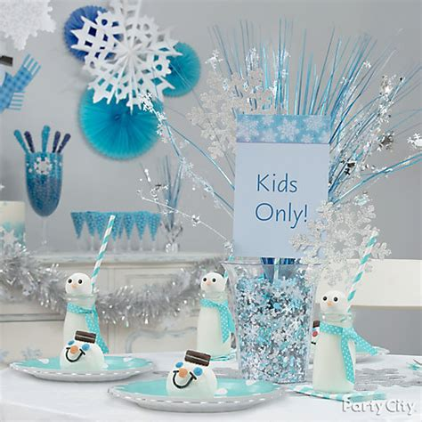 Sparkling Snowflake Centerpiece Diy  Party City