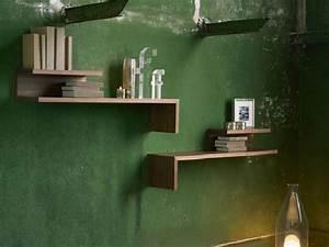Etagere Murale Design Bois : tag re murale en bois acrobat by linfa design design luigi ronzoni ~ Melissatoandfro.com Idées de Décoration