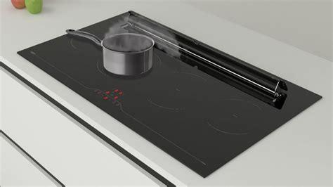 image hotte de cuisine plaque induction avec hotte intégrée getherpeset