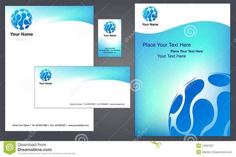 corporate letterhead template  stock vector