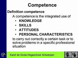 The importance ... Competency Definition