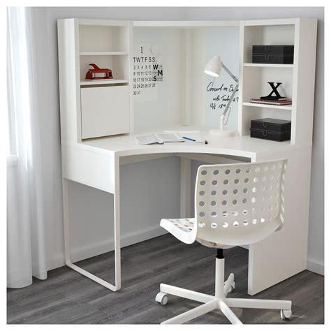 ikea bureau etagere micke corner workstation white 100x142 cm ikea
