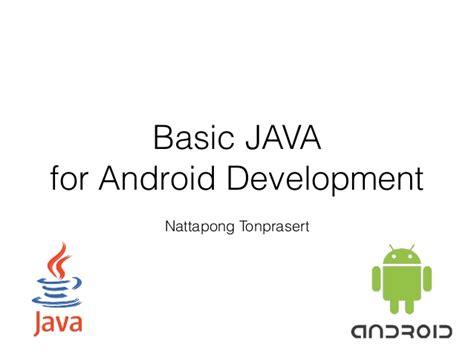Basic Java For Android Developer