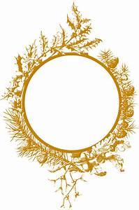 Clipart - Christmas frame (golden)