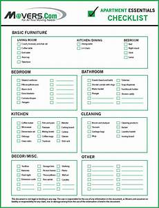 Apartment Essentials Move-In Checklist