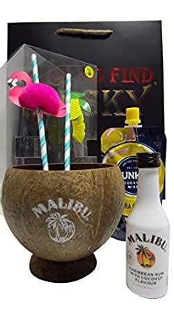 Choose from 492 drink recipes containing malibu rum. Rum - Malibu Pina Colada Real Coconut Gift Set (Hard To ...