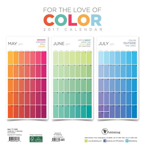 calendar colors 2017 for the of color large grid planning wall