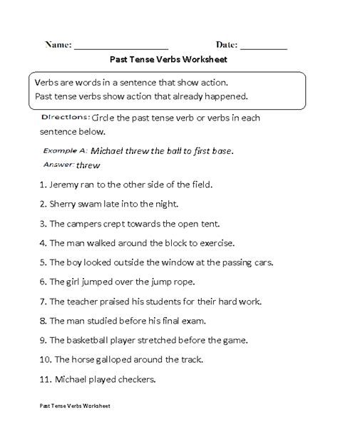 past tense verbs worksheet part 1 beginner laerskool