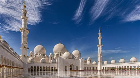 sheikh zayed mosque in abu dhabi united arab emirates 4k