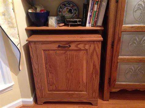 inside cabinet trash can tips inside cabinet trash can wood trash can holder tilt