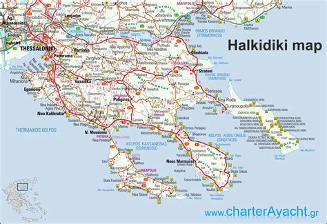 greece map halkidiki