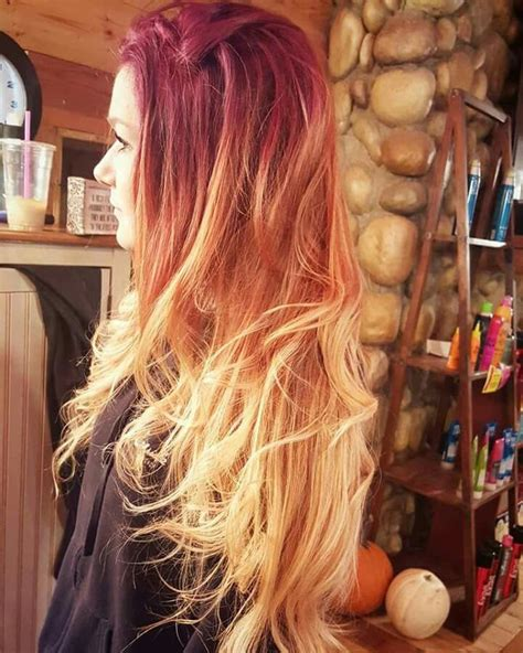Fire Ombre Thairapy♡ In 2019 Hair Ombre Hair