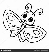 Cartoon Butterfly Coloring Insect Character Isolated Depositphotos Efengai sketch template