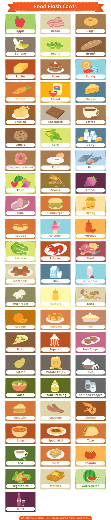 cuisine flash free printable food flash cards them in pdf