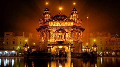 India Desktop Temple Background Golden Cool Countries