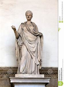 Ancient Roman Sculpture Of A Vestal Virgin Royalty Free ...