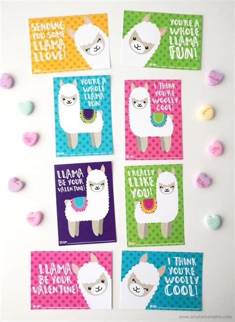 Free Printable Valentine Llama