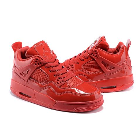 2017 Nike Air Jordan 4 Mirror Whole Red Women Basketball Shoes