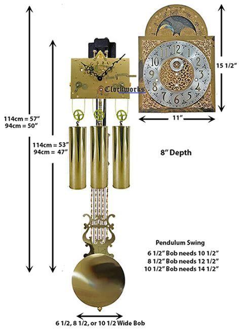 triple chime cable driven clock movement kit clockworks