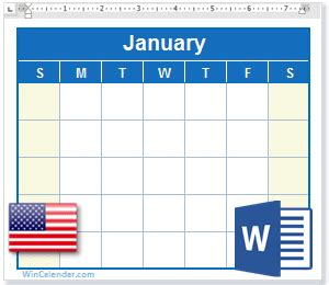 calendar holidays ms word