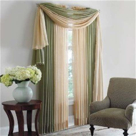 Brylane Home Sheer Curtains by Scarf Valance Valances And Hang Scarves On