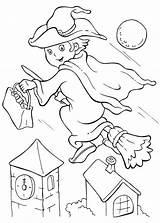 Halloween Witch Coloring Ausmalbilder Young Flee Broomstick Colorluna Little Kuerbis Zenideen Gemerkt Teilen Kidsplaycolor Faerben sketch template