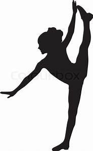 Dancing silhouette child | Stock Vector | Colourbox