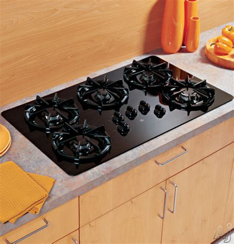 ge jgpbejbb   gas cooktop   sealed burners precise simmer burners tempered glass
