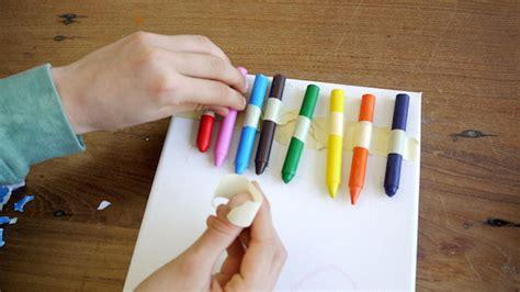 leinwand mit kindern gestalten geniale kinder kunst wachsmalstifte f 246 hnen
