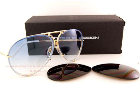 porsche design sunglasses   gold interchangeable