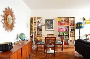visite un appartement eclectique cocon de decoration With deco salon salle a manger