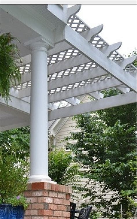 love  idea lattice top pergola backyard redo