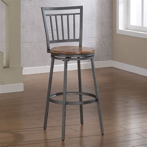 oak bar stools american woodcrafters filmore counter stool slate gray 1126