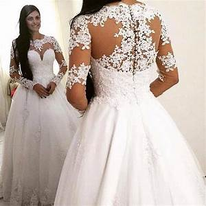 aliexpresscom buy 2015 long sleeves lace wedding dress With wedding dresses not puffy