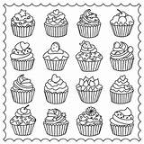 Coloring Pages Adults Easy Cupcake Adult Cupcakes Colouring Printable Cakes Tea Para Drawing Coffee Dibujos Ice Cake Cute Cup Sheets sketch template